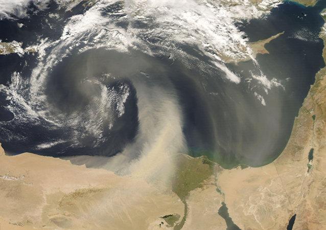 Dust Storm off Egypt