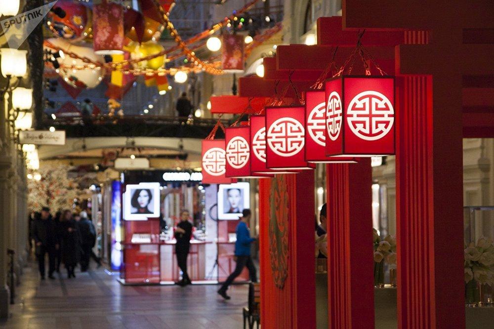 古姆商場迎接中國新年活動的主題裝飾