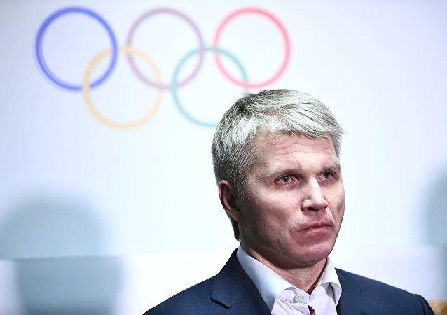 俄罗斯体育运动部部长巴维尔•科洛布科夫(资料图片)