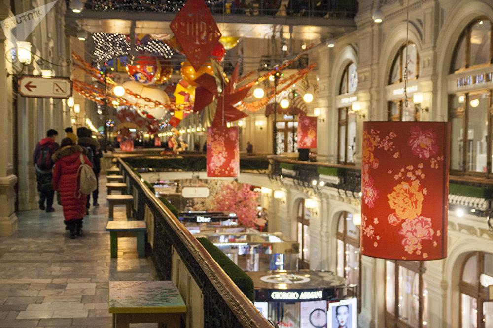 古姆商場喜迎中國新年活動上的中國遊客