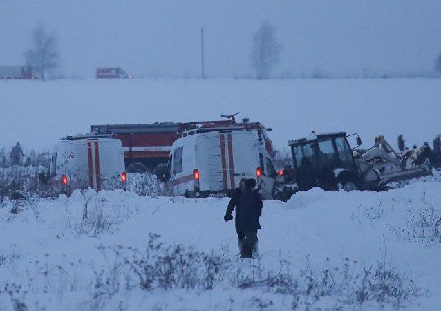 在拉緬斯科耶區發現墜毀的安-148飛機殘骸