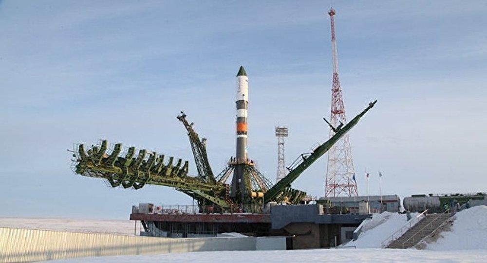 搭載「進步MS-08」貨運飛船的俄「聯盟-2.1A」火箭從哈薩克斯坦拜科努爾航天發射場升空
