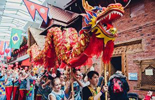 莫斯科郊外「民族世界」公園博物館舉辦中國農歷新年節