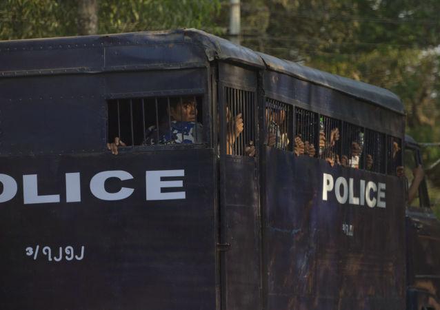 缅甸警方9资料图片)
