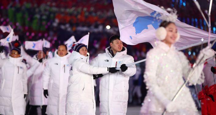 朝鮮赴韓出席冬奧閉幕式代表團回國