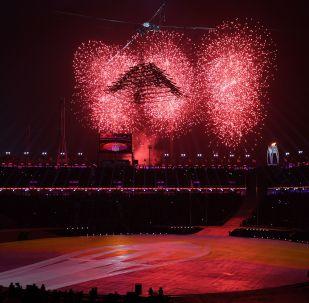 奧林匹克體育場上空的煙花