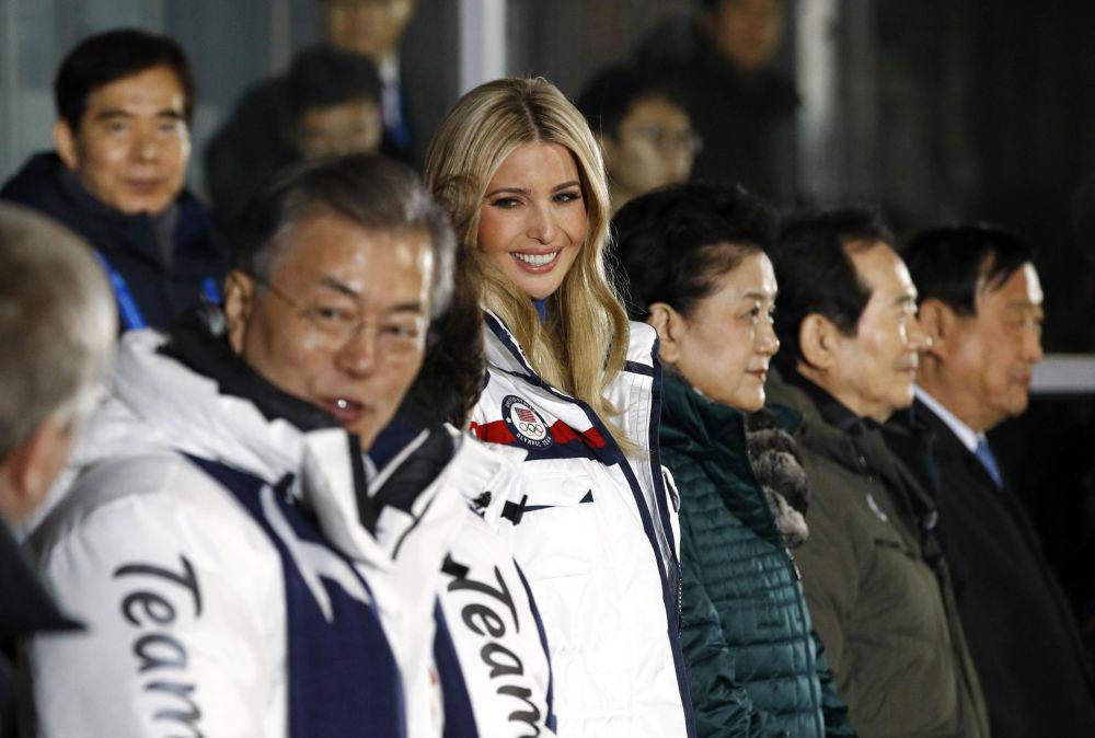 伊万卡·特朗普在冬奥会闭幕式上