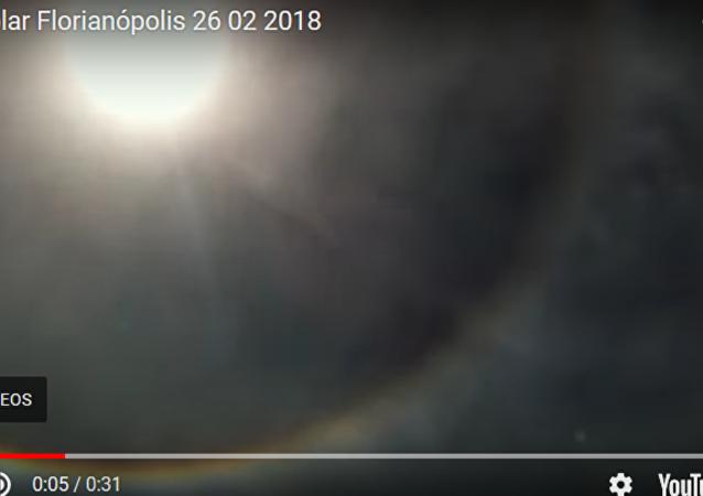 巴西現罕見日暈景觀