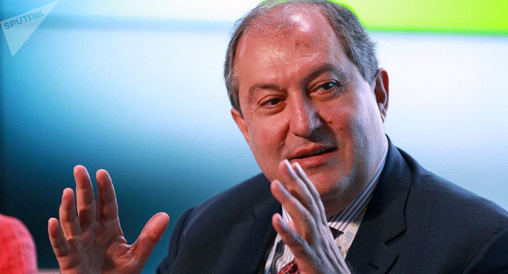 亚美尼亚总统阿尔缅·萨尔基相