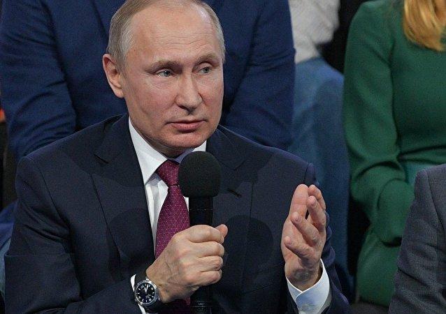 普京表示,需要制止外国情报部门获取政治、经济和国防性质的信息
