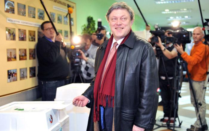 """俄罗斯 """"亚博卢""""党候选人格里戈里·亚夫林斯基"""