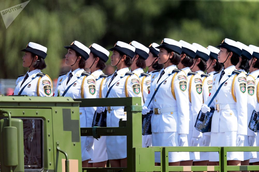 中國人民解放軍抗日戰爭暨世界反法西斯戰爭勝利70週年閱兵式上的軍人