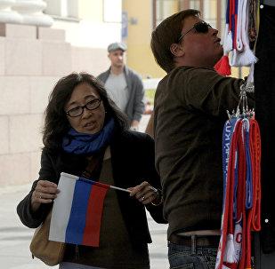 近四年中國公民赴俄免簽客流量每年至少增長