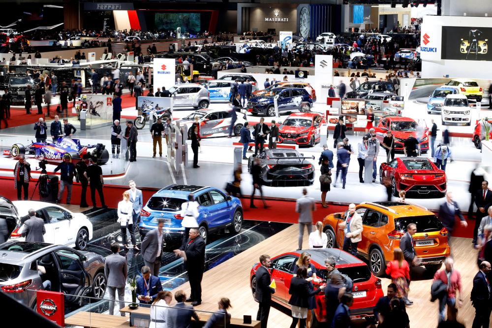 2018日内瓦国际车展在瑞士日内瓦举行