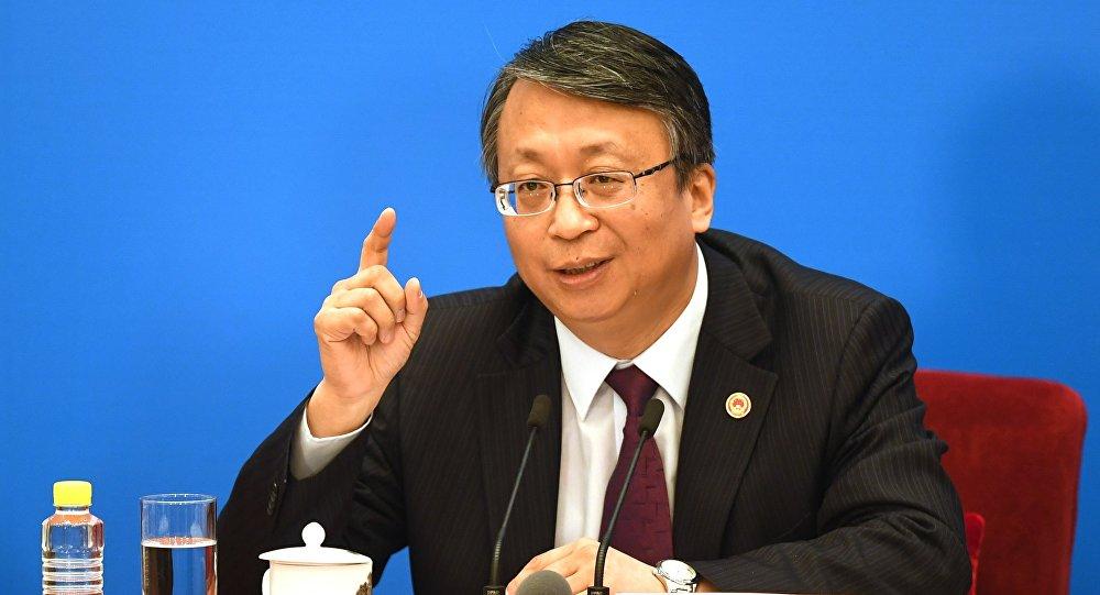 中國十三屆全國人大一次會議秘書處法案組組長、全國人大常委會法工委主任沈春耀