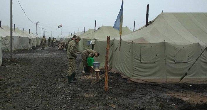 乌军营地陷入泥沼