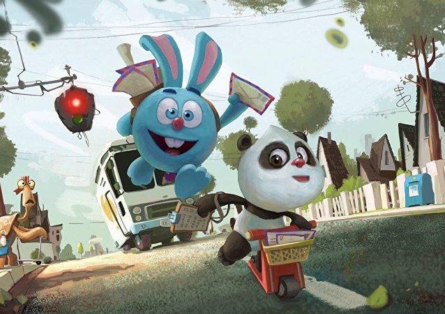 """动画片""""熊猫和开心球"""""""