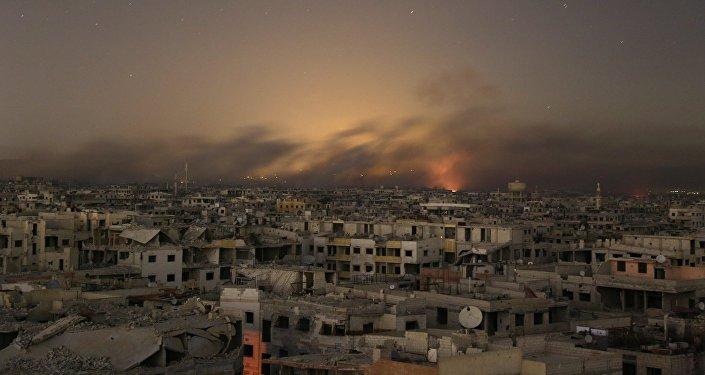 叙政府军包围东古塔两座恐怖分子阵地