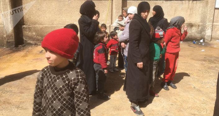 Выход жителей из Восточной Гуты, Сирия