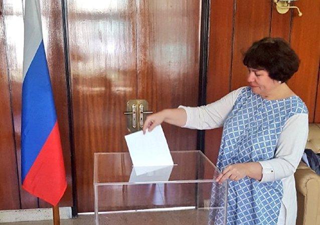 印度5個城市開設俄羅斯總統選舉投票站,分別是新德里、孟買、金奈、加爾各答和帕納吉。