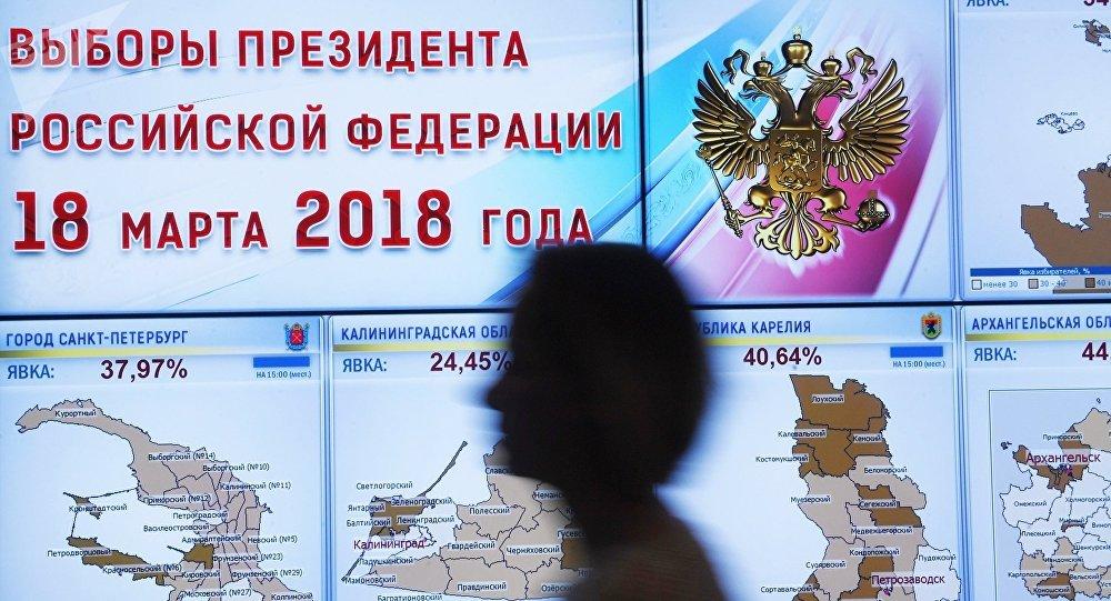 俄中选委:99.84%选票统计结果显示5620.6万选民投票选普京