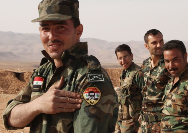 敘利亞總統阿薩德視察東古塔區前線