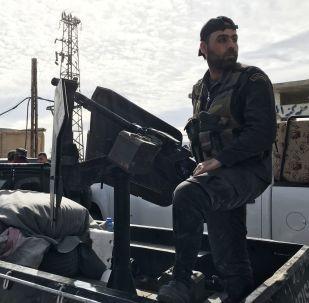 Сирийские военные в Восточной Гуте