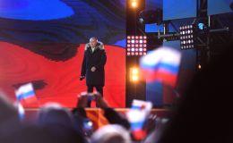 克里米亚入俄四周年音乐会集会在莫斯科举行