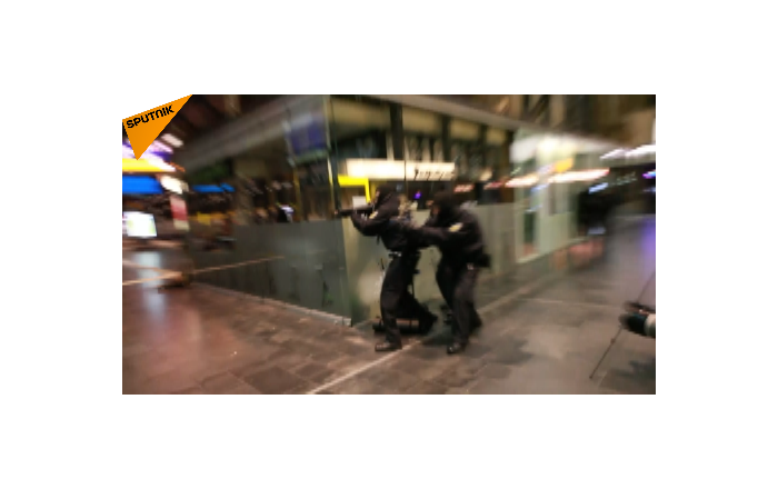 法兰克福地铁站举行反恐演习