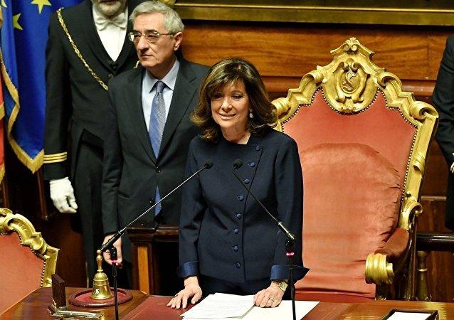 女性首次当选意大利参议院主席