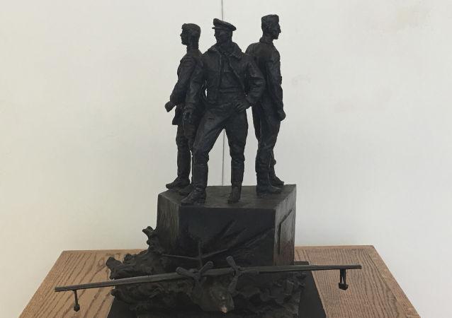 苏联飞行员雕像