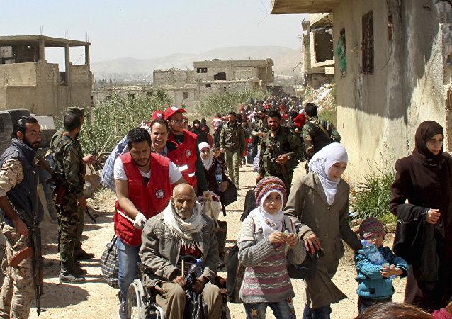 128名平民31日成功撤离叙利亚东古塔区