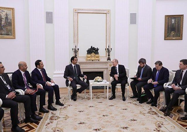 克宫:普京总统将与卡塔尔埃米尔讨论广泛的双边关系问题