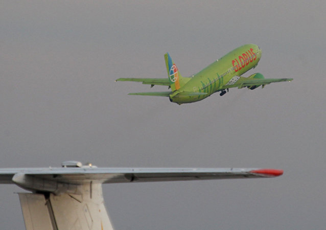"""俄罗斯""""格洛布斯""""航空公司的客机"""