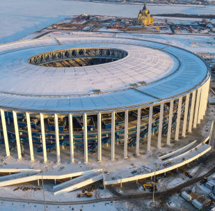 2018年世界杯前俄下诺夫哥罗德将出现足球圣诞球装饰品
