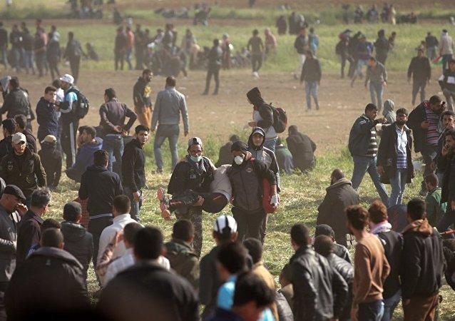 加沙边境发生巴以军民冲突 至少4名巴勒斯坦人死亡