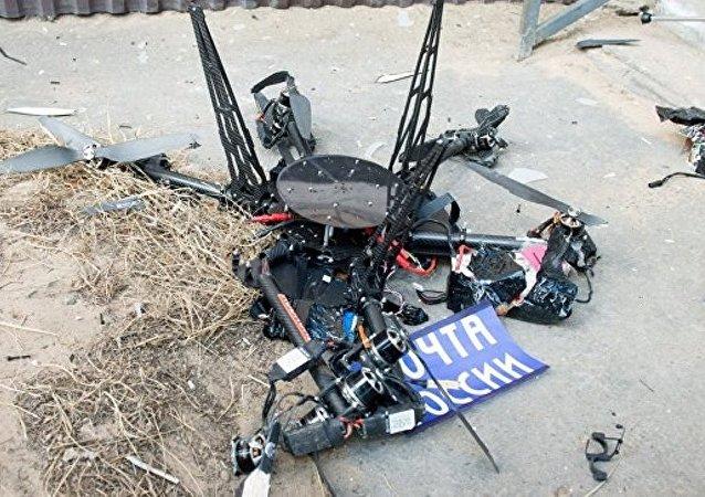 俄羅斯郵政的首架無人機發射後不久掉落