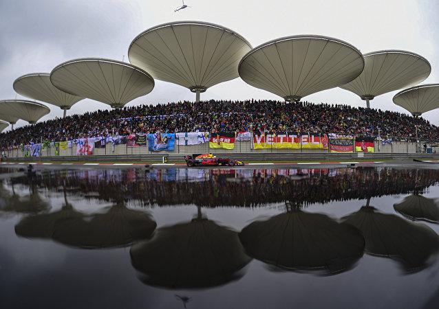 Red Bull's Australian driver Daniel Ricciardo drives his car during the Formula One Chinese Grand Prix in Shanghai