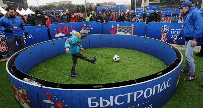 2018世界杯赛足球公园在顿河上拉斯托夫市开放