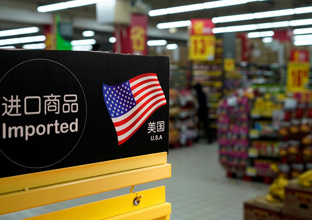 Imports from the U.S. are seen at a supermarket in Shanghai