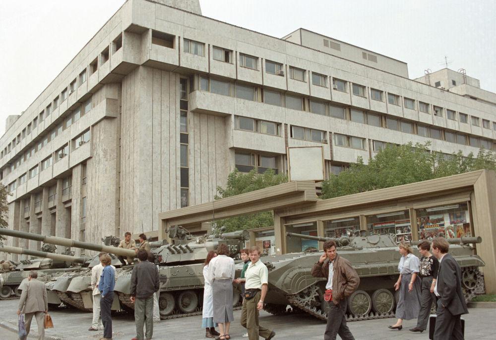 1991年8月莫斯科政變時的坦克