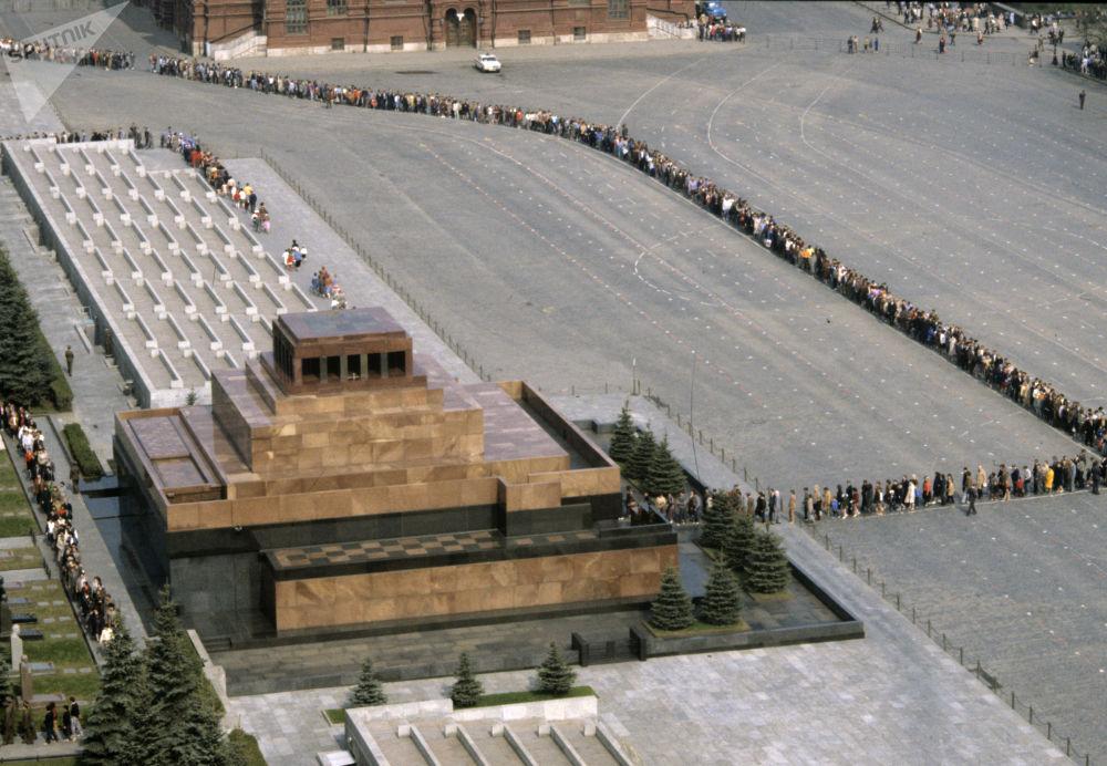 列寧墓前的長隊,1987年