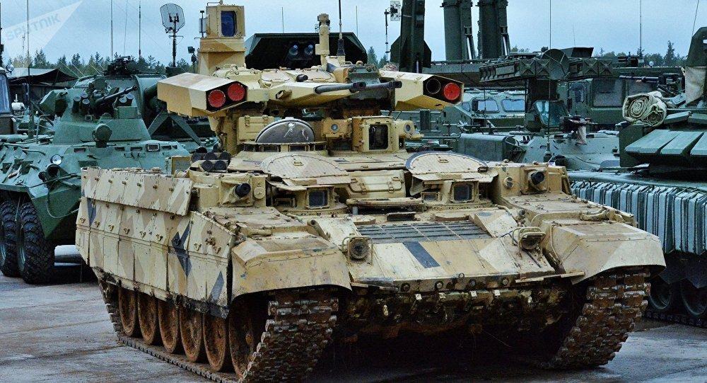 """俄军再次启动""""终结者""""火力支援战车测试"""