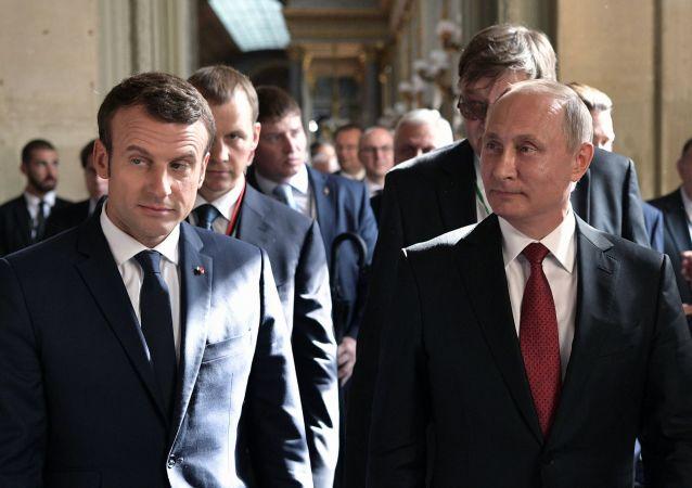 馬克龍表示他和普京平起平坐