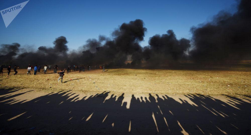 加沙地帶巴以軍民衝突造成約40名巴人受傷