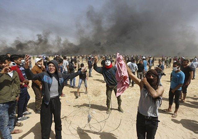 加沙地带边境冲突造成3名巴勒斯坦人死亡约190人受伤