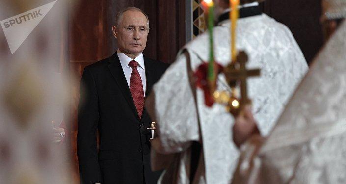 普京祝賀俄羅斯人復活節快樂