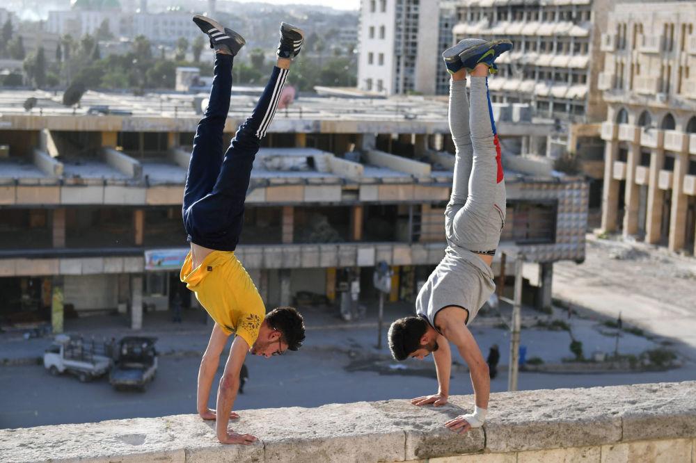 叙利亚阿勒颇街头跑酷