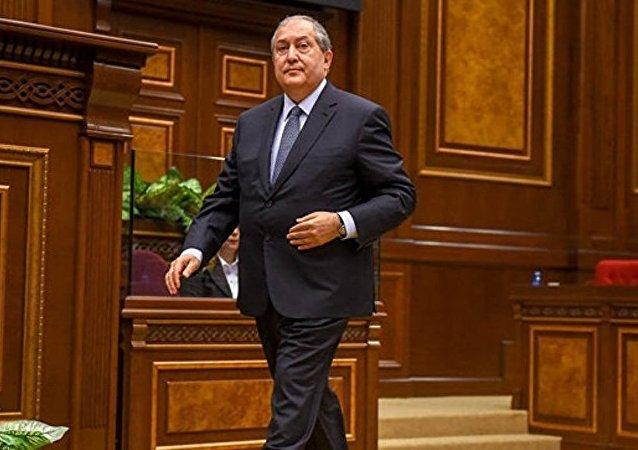 亚美尼亚新总统阿尔缅•萨尔基相