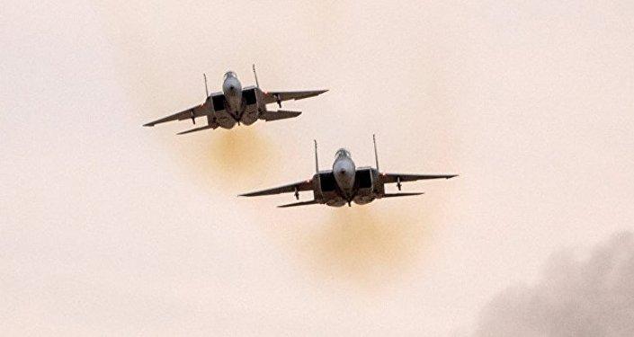 以色列空軍兩架F-15戰機空襲敘空軍基地
